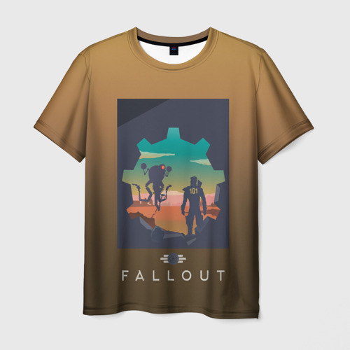 Мужская футболка 3D  Фото 03, Fallout 4 art