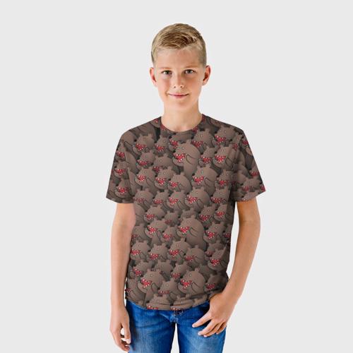 Детская футболка 3D Медведи мемы