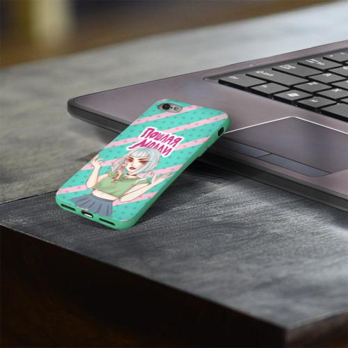 Чехол для Apple iPhone 8 силиконовый глянцевый Молли Фото 01