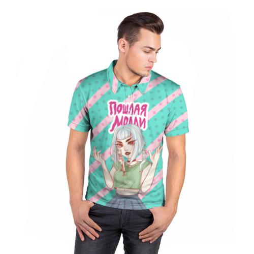 Мужская рубашка поло 3D Молли Фото 01