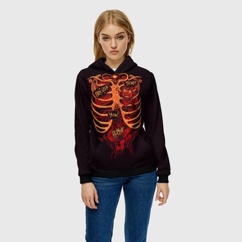 Женская толстовка 3D Человеческий скелет  Фото 01