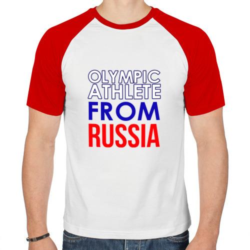 Мужская футболка реглан  Фото 01, олимпийская форма