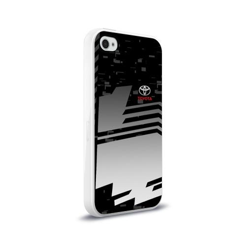 Чехол для Apple iPhone 4/4S силиконовый глянцевый TOYOTA SPORT     Фото 01