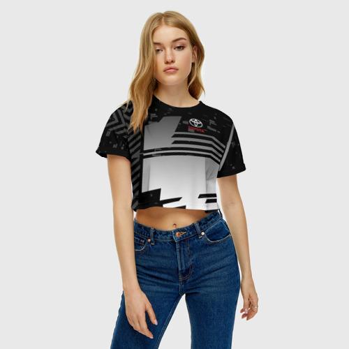 Женская футболка 3D укороченная  Фото 04, TOYOTA SPORT
