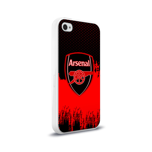 Чехол для Apple iPhone 4/4S силиконовый глянцевый FC Arsenal Original uniform Фото 01