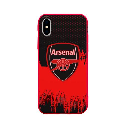 Чехол для Apple iPhone X силиконовый матовый FC Arsenal Original uniform Фото 01