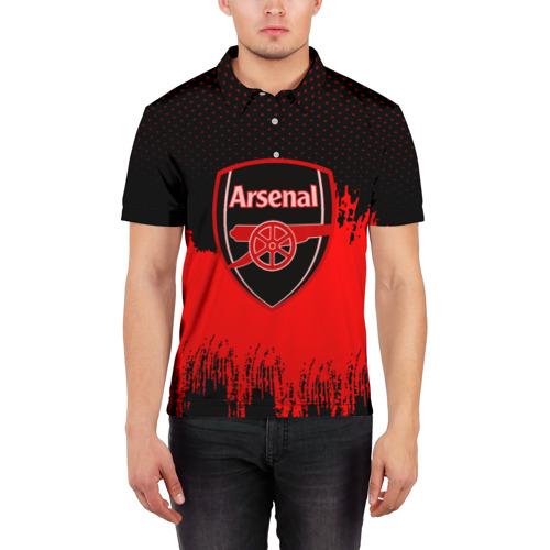 Мужская рубашка поло 3D FC Arsenal Original uniform Фото 01