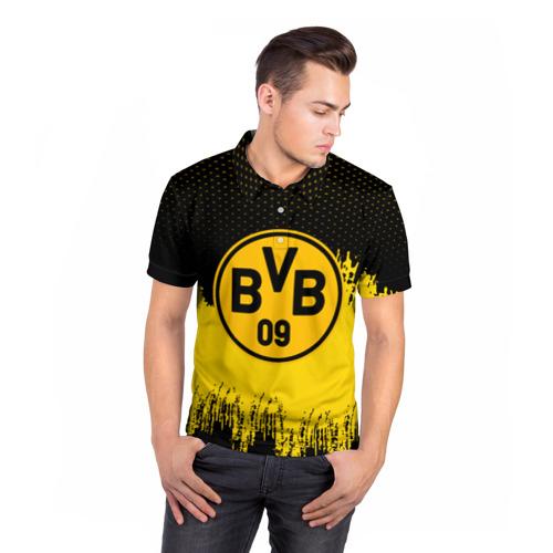 Мужская рубашка поло 3D  Фото 05, FC Borussia Uniform