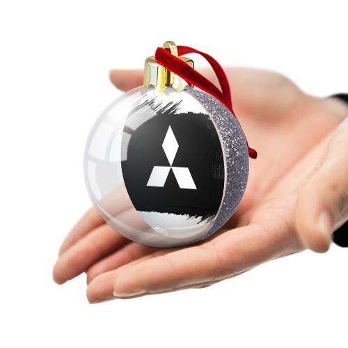 Ёлочный шар с блестками  Фото 03, Mitsubishi Black collection