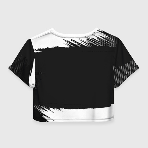 Женская футболка 3D укороченная  Фото 02, Mitsubishi Black collection