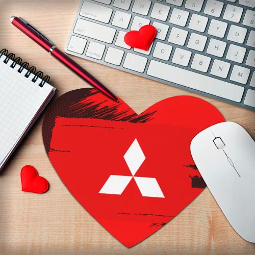 Коврик для мыши сердце  Фото 02, Mitsubishi SPORT