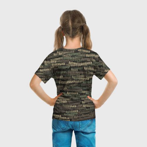 Детская футболка 3D  Фото 04, Именной камуфляж. Артём