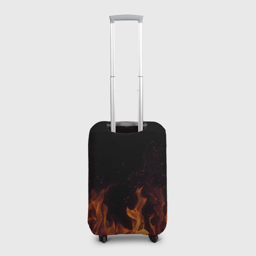 Чехол для чемодана 3D Кеша огонь мужик Фото 01