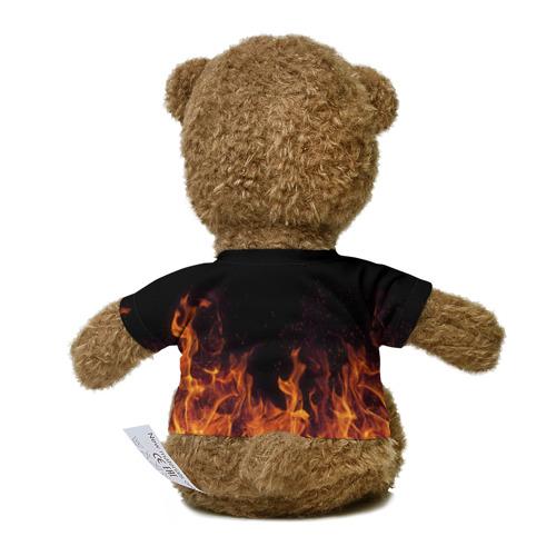 Миша в футболке 3D Кеша огонь мужик Фото 01