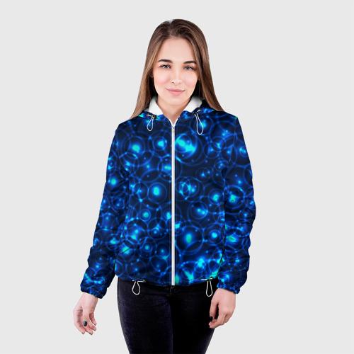 Женская куртка 3D  Фото 03, Пузырчатый абстракт