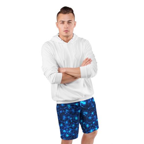 Мужские шорты 3D спортивные  Фото 05, Пузырчатый абстракт