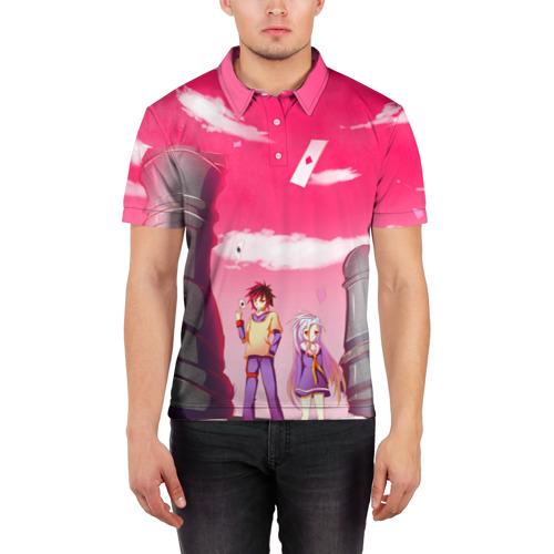 Мужская рубашка поло 3D  Фото 03, No Game No Life
