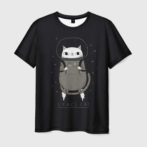 Мужская футболка 3D  Фото 03, Кот космонавт