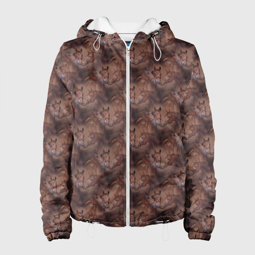 Женская куртка 3D  Фото 01, Лошади