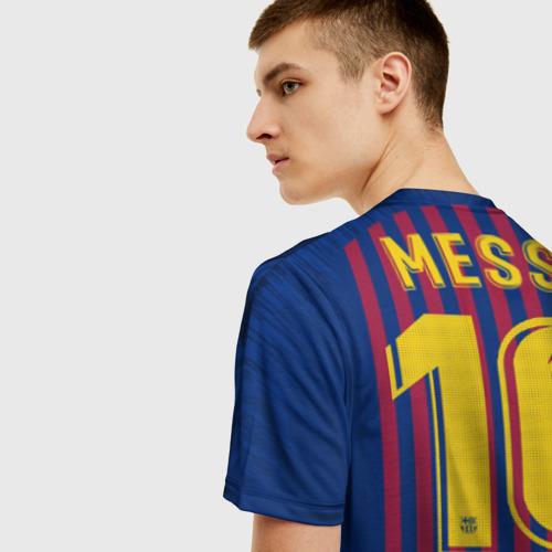 Мужская футболка 3D Messi home 18-19 Фото 01