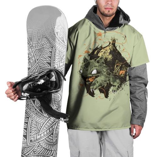 Накидка на куртку 3D  Фото 01, Бульбазавр