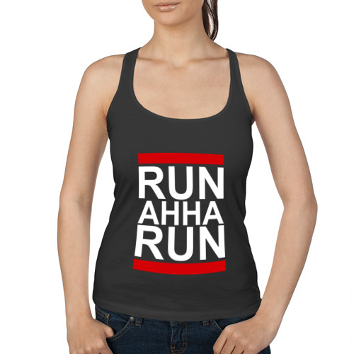 Женская майка борцовка  Фото 01, Run Анна Run
