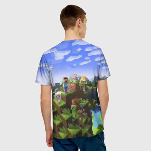 Мужская футболка 3D  Фото 02, Лев - Minecraft