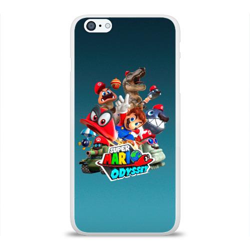 Чехол для Apple iPhone 6Plus/6SPlus силиконовый глянцевый  Фото 01, Super Mario Odyssey