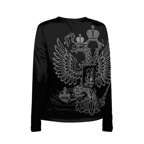 Женский лонгслив 3D для беременных  Фото 02, ФСО, белый герб РФ