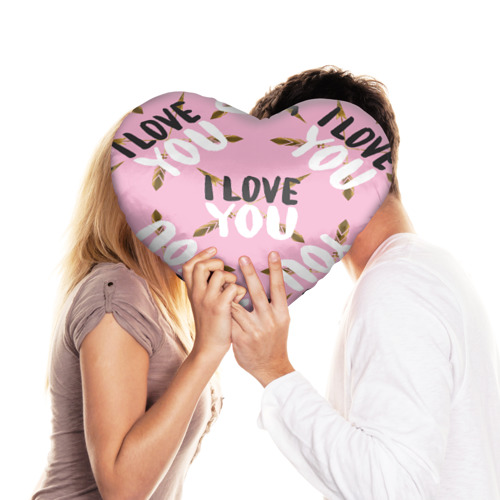 Подушка 3D сердце  Фото 03, I love you
