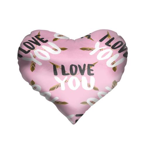 Подушка 3D сердце  Фото 01, I love you