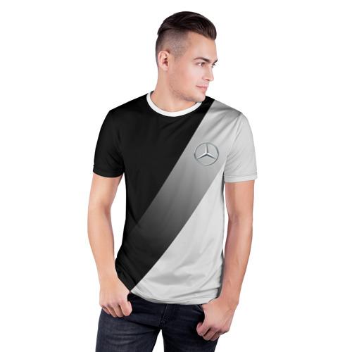 Мужская футболка 3D спортивная  Фото 03, MERCEDES BENZ ЭЛИТА