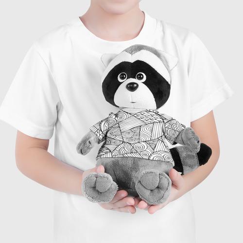 Енотик в футболке 3D  Фото 04, love texture black