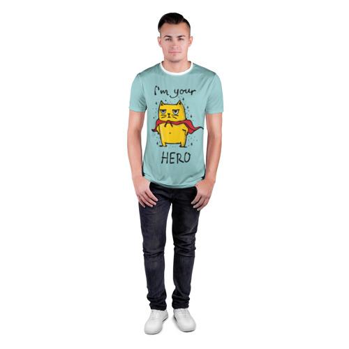 Мужская футболка 3D спортивная  Фото 04, Я твой герой
