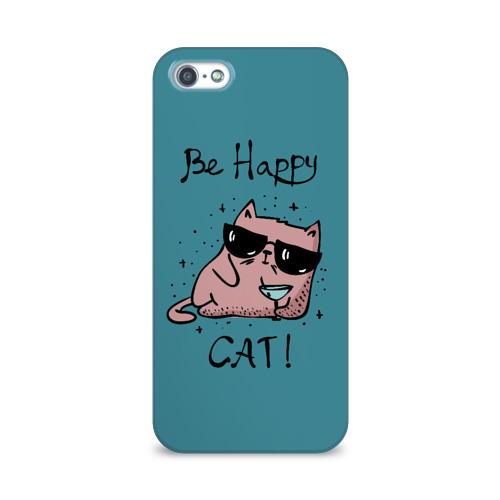 Чехол для Apple iPhone 5/5S 3D  Фото 01, Быть счастливым котом!
