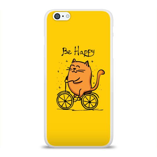 Чехол для Apple iPhone 6Plus/6SPlus силиконовый глянцевый  Фото 01, Be Happy,cat