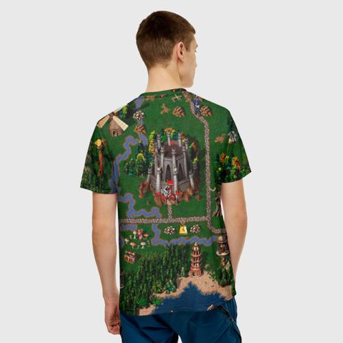 Мужская футболка 3D Карта Фото 01