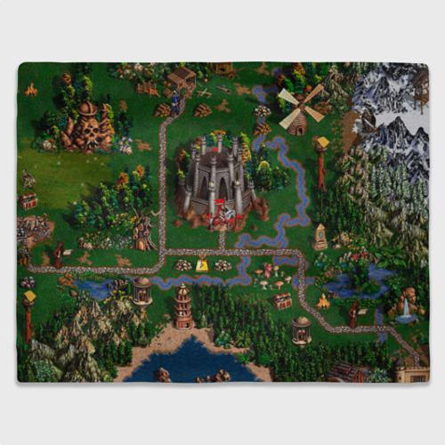 Плед 3D Карта Фото 01
