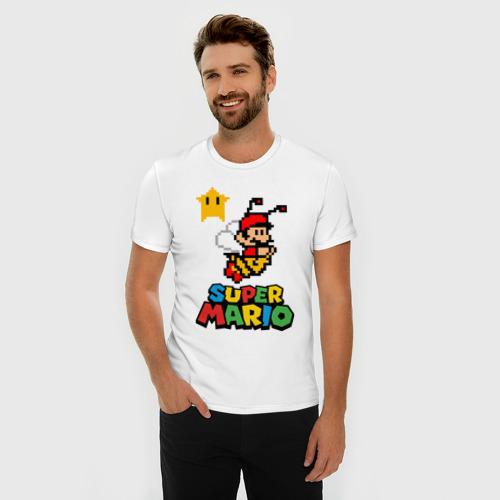 Мужская футболка премиум  Фото 03, Bee Mario