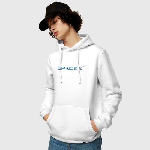 Мужская толстовка хлопок SpaceX Фото 01