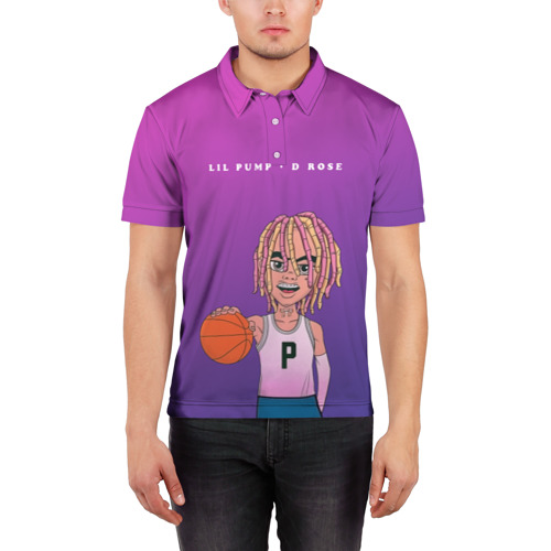 Мужская рубашка поло 3D  Фото 03, Lil Pump D Rose