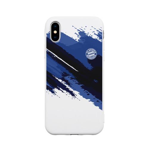 Чехол для Apple iPhone X силиконовый матовый FC Bayern Munchen 2018