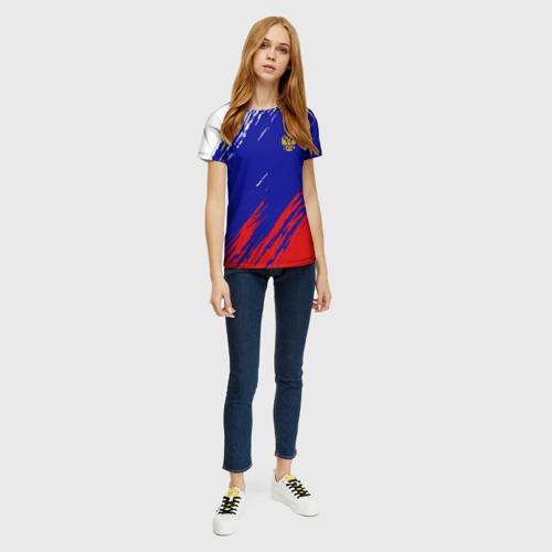 Женская футболка 3D RUSSIA SPORT / РОССИЯ СПОРТ Фото 01