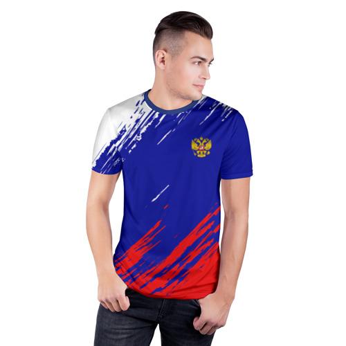 Мужская футболка 3D спортивная RUSSIA SPORT    Фото 01