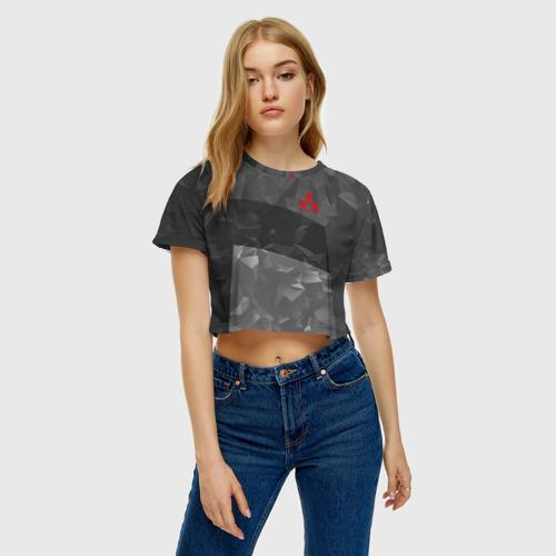 Женская футболка 3D укороченная  Фото 04, MITSUBISHI SPORT