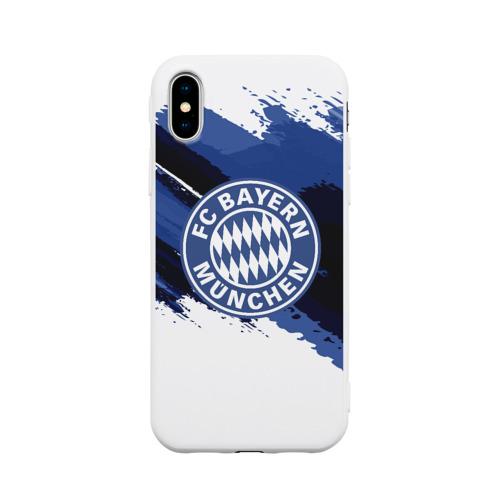 Чехол для Apple iPhone X силиконовый матовый BAYERN MUNCHEN SPORT STYLE