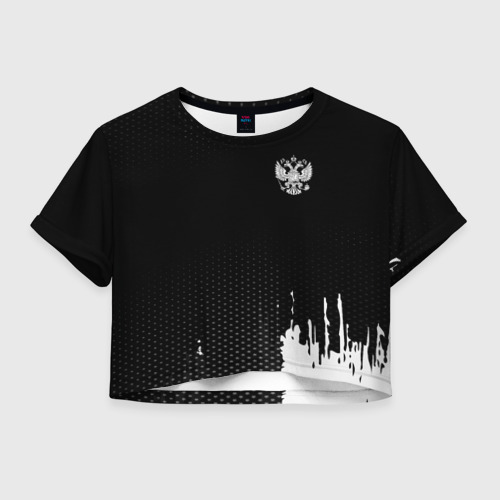 Женская футболка Cropp-top Russia black collection Фото 01