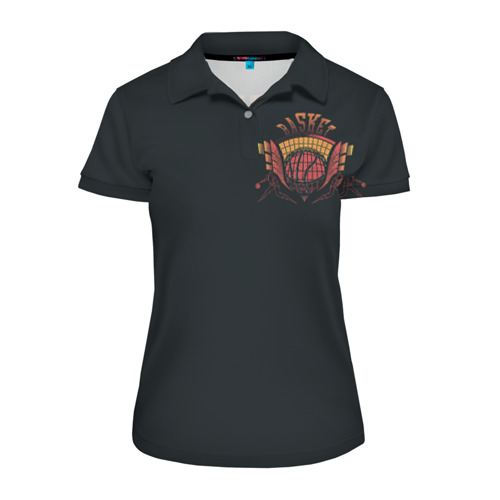 Женская рубашка поло 3D Баскетбол