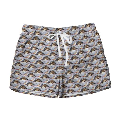 Женские шорты 3D  Фото 01, Ежики