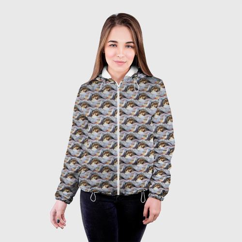 Женская куртка 3D  Фото 03, Ежики